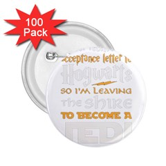 Howarts Letter 2 25  Button (100 Pack) by empyrie