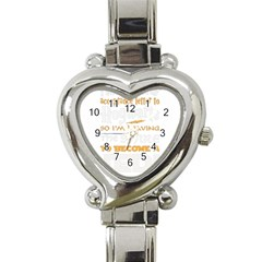 Howarts Letter Heart Italian Charm Watch  by empyrie