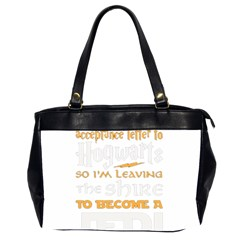Howarts Letter Oversize Office Handbag (two Sides) by empyrie