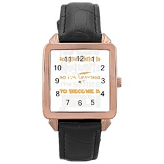 Howarts Letter Rose Gold Leather Watch  by empyrie
