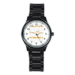 Howarts Letter Sport Metal Watch (black) by empyrie