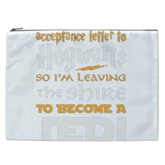 Howarts Letter Cosmetic Bag (xxl) by empyrie