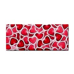 Candy Hearts Hand Towel by KirstenStar