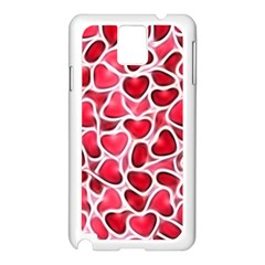 Candy Hearts Samsung Galaxy Note 3 N9005 Case (White) by KirstenStar