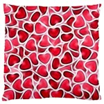 Candy Hearts Standard Flano Cushion Case (One Side) Front