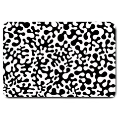 Black And White Blots Large Door Mat by KirstenStar