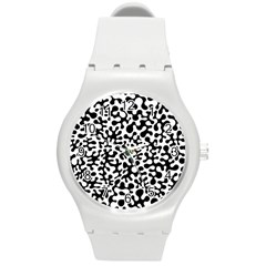 Black And White Blots Plastic Sport Watch (medium) by KirstenStar