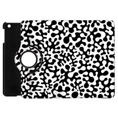 Black And White Blots Apple Ipad Mini Flip 360 Case by KirstenStar