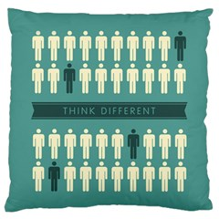 Think Different Large Flano Cushion Case (Two Sides) by KingdomofArt