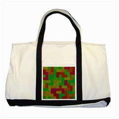 Colorful Stripes And Squares Two Tone Tote Bag by LalyLauraFLM