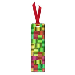 Colorful Stripes And Squares Small Book Mark by LalyLauraFLM