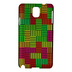 Colorful Stripes And Squares Samsung Galaxy Note 3 N9005 Hardshell Case by LalyLauraFLM