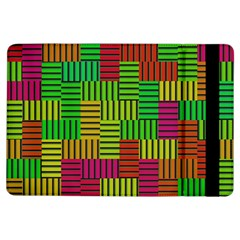 Colorful Stripes And Squares	apple Ipad Air Flip Case by LalyLauraFLM