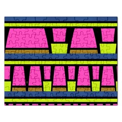 Trapeze And Stripes Jigsaw Puzzle (rectangular) by LalyLauraFLM
