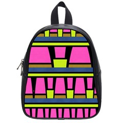 Trapeze And Stripes School Bag (small) by LalyLauraFLM
