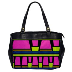 Trapeze And Stripes Oversize Office Handbag by LalyLauraFLM
