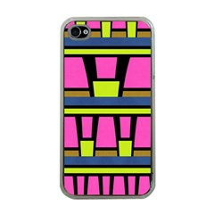 Trapeze And Stripes Apple Iphone 4 Case (clear) by LalyLauraFLM