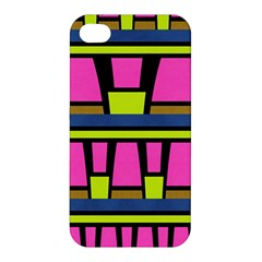 Trapeze And Stripes Apple Iphone 4/4s Premium Hardshell Case by LalyLauraFLM