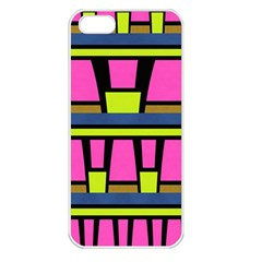 Trapeze And Stripes Apple Iphone 5 Seamless Case (white) by LalyLauraFLM
