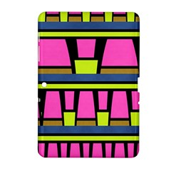 Trapeze And Stripes Samsung Galaxy Tab 2 (10 1 ) P5100 Hardshell Case  by LalyLauraFLM