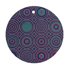 Concentric Circles Pattern Ornament (round) by LalyLauraFLM