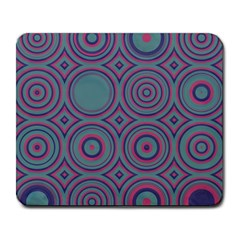 Concentric Circles Pattern Large Mousepad by LalyLauraFLM