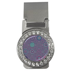Concentric circles pattern Money Clip (CZ) by LalyLauraFLM