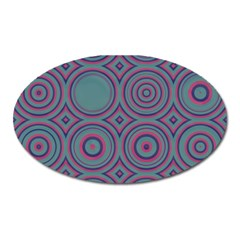 Concentric Circles Pattern Magnet (oval) by LalyLauraFLM