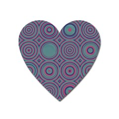 Concentric Circles Pattern Magnet (heart) by LalyLauraFLM