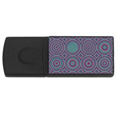 Concentric Circles Pattern Usb Flash Drive Rectangular (4 Gb) by LalyLauraFLM