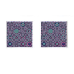 Concentric Circles Pattern Cufflinks (square) by LalyLauraFLM