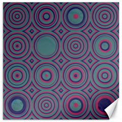 Concentric Circles Pattern Canvas 12  X 12  by LalyLauraFLM