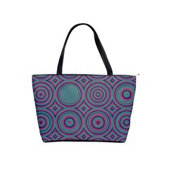 Concentric Circles Pattern Classic Shoulder Handbag by LalyLauraFLM