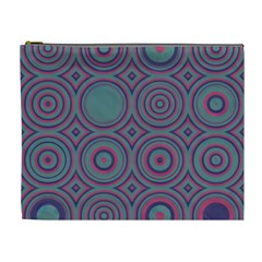 Concentric Circles Pattern Cosmetic Bag (xl) by LalyLauraFLM