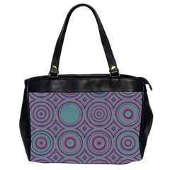 Concentric Circles Pattern Oversize Office Handbag (2 Sides) by LalyLauraFLM