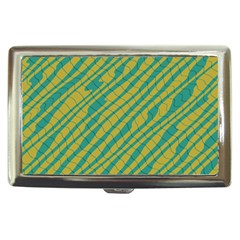 Blue yellow waves Cigarette Money Case by LalyLauraFLM