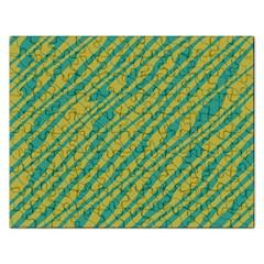 Blue Yellow Waves Jigsaw Puzzle (rectangular) by LalyLauraFLM