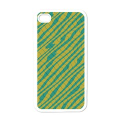 Blue Yellow Waves Apple Iphone 4 Case (white) by LalyLauraFLM