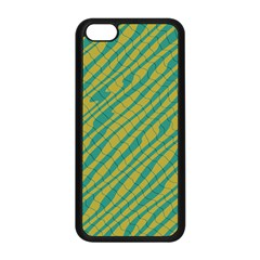 Blue Yellow Waves Apple Iphone 5c Seamless Case (black) by LalyLauraFLM