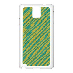 Blue Yellow Waves Samsung Galaxy Note 3 N9005 Case (white) by LalyLauraFLM