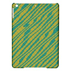 Blue Yellow Waves Apple Ipad Air Hardshell Case by LalyLauraFLM