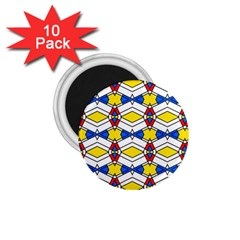 Colorful Rhombus Chains 1 75  Magnet (10 Pack)  by LalyLauraFLM
