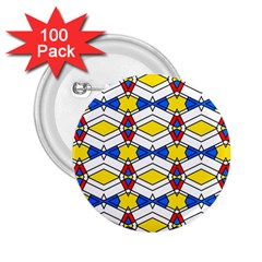 Colorful rhombus chains 2.25  Button (100 pack) by LalyLauraFLM