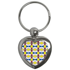 Colorful Rhombus Chains Key Chain (heart) by LalyLauraFLM