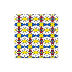 Colorful Rhombus Chains Magnet (square) by LalyLauraFLM