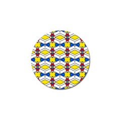 Colorful Rhombus Chains Golf Ball Marker (4 Pack) by LalyLauraFLM