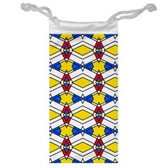Colorful Rhombus Chains Jewelry Bag by LalyLauraFLM