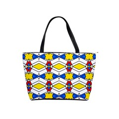 Colorful Rhombus Chains Classic Shoulder Handbag by LalyLauraFLM