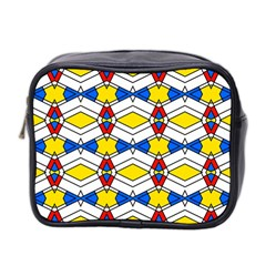 Colorful Rhombus Chains Mini Toiletries Bag (two Sides) by LalyLauraFLM