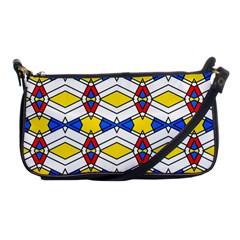 Colorful Rhombus Chains Shoulder Clutch Bag by LalyLauraFLM